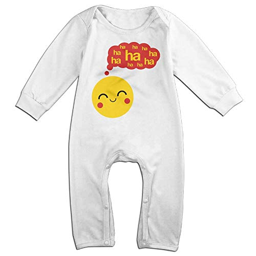 Monalinda Smiley Haha F3 Baby Boys Girls Crawler Suit One Piece Bodysuit Jumpsuit