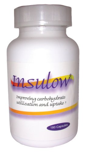 Insulow Dietary Supplement, Capsules, 180-Count Bottle