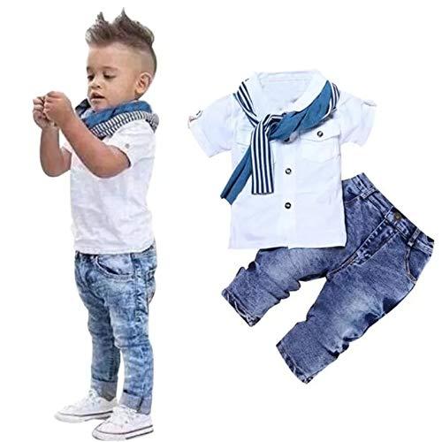 AP Boutique Babys Boys Cotton Blend Birthday Party Wear Clothes Shirt Jeans Pant Set Short Sleeves