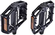 Bike Flat Pedals,Mountain Bicycles Pedals Flat Aluminum Alloy Platform Sealed Bearing Axle 9/16&
