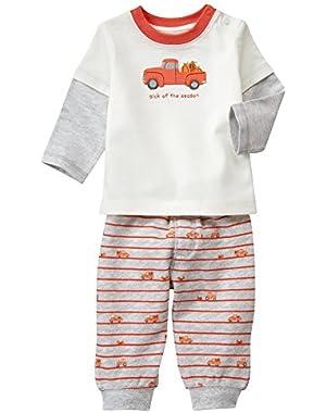 Baby Boy Fall Truck Pants Set