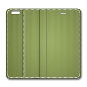 iPhone 6 Leather Case, Personalized Protective Flip Case Cover Stripes Green for New iPhone 6