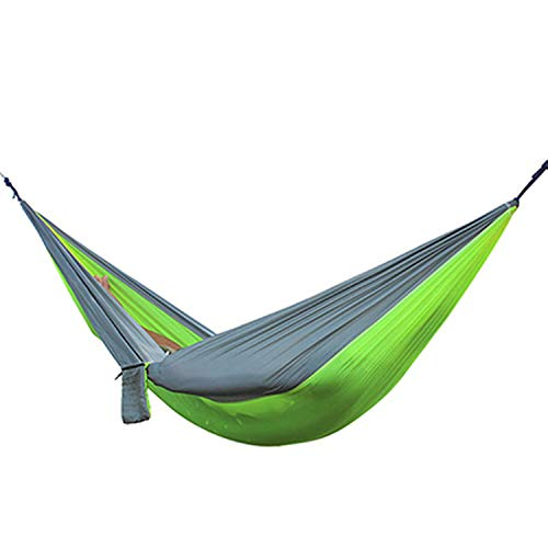 Fall In Love Hiking Camping 270140cm Hammock Portable Nylon Safety Parachute Hamac Hanging Chair Swing Outdoor Double Person Leisure Hamak,Same as picture12 (Hammock 800 Capacity Lb)