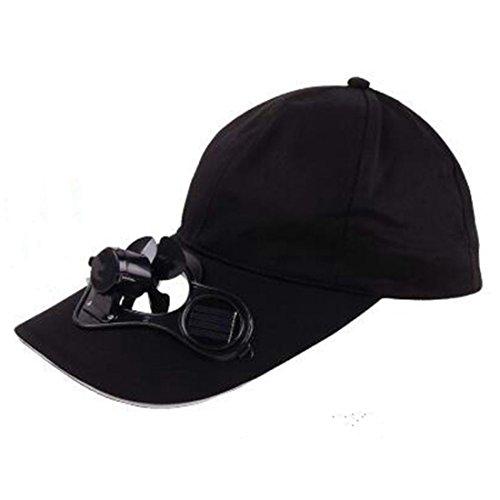 olar Power Fan Hat Cap For Hiking Traveling Fishing (Black) ()