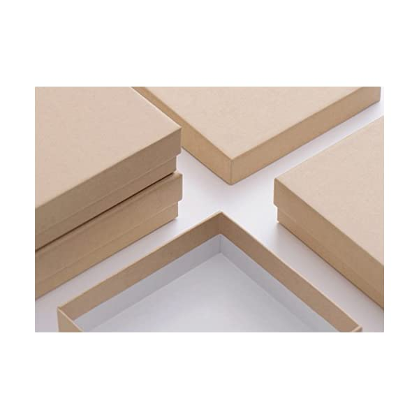 Mesha Jewelry Boxes 3 5x3 5x1 Inches Paper Gift Boxes Natural Cardboard Bracelet Boxes With Cotton Filled Pack Of 20 Nature
