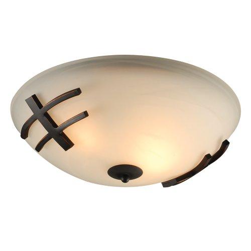 PLC Lighting 4010 WH 2-Light Wall Sconce Vega-I Italian Collection White Handblown Glass