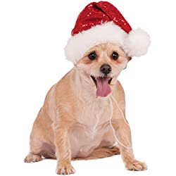 Rubie's Red Sequin Santa Hat Pet Costume, Small/Medium