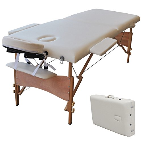 84''L Portable Massage Table Facial SPA Bed Tattoo w/Free Carry Case White by Alitop