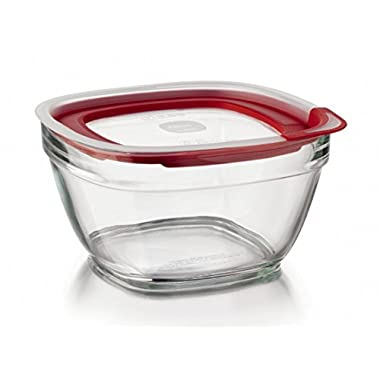 Rubbermaid Easy Find Lid Glass Food Storage Container, 11-1/2 Cup (2856007)