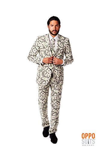Opposuits Men's Cannaboss Party Costume Suit, Black/Green, 50 by Opposuits