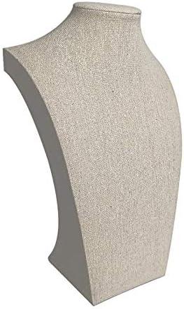 Buste pour collier en coton beige 30cm 9113