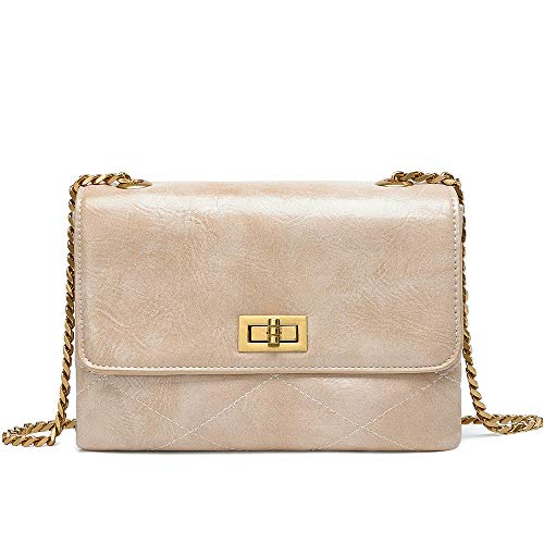Crossbody Bags for Women UTAKE Shoulder Purse Handbags with Functional Multi Pocket Beige