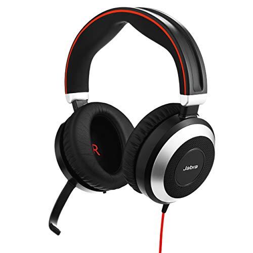 Jabra Evolve 80 - هدفون سیمی حرفه ای و استریو گوش و حلق و برق هدفون / موسیقی - UC