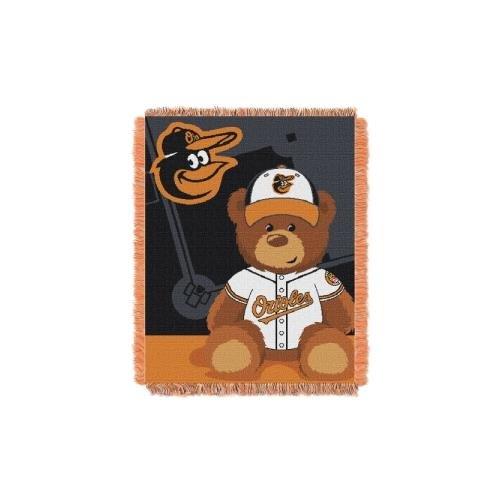 Baltimore Orioles Logo Wall Graphic (MLB Baltimore Orioles Field Bear Woven Jacquard Baby Throw, 36