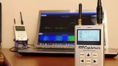RF Explorer Bundle #2 -- Model 3G-24G Combo Handheld RF Spectrum Analyzer Plus Touchstone-Pro Software