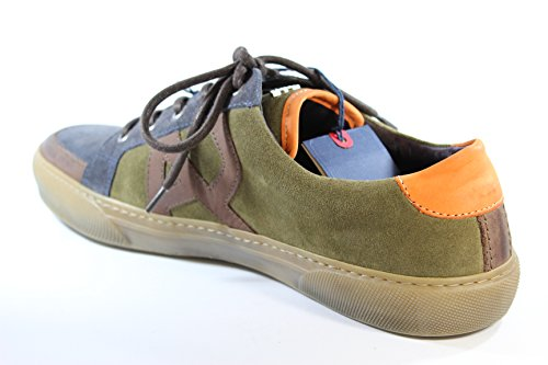 Armani Jeans sneakers basse in camoscio verde