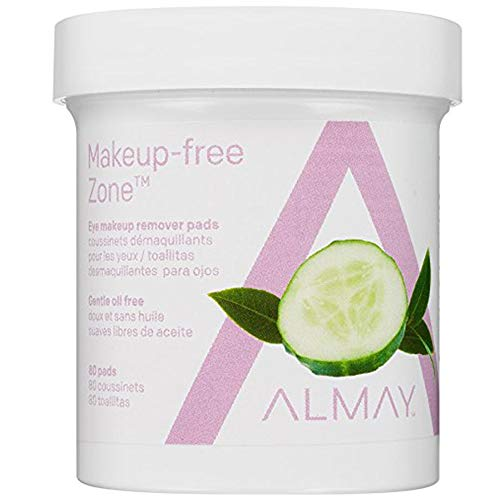 Almay Eye Makeup Remover Pads, Oil Free, Pack Of 2 80 pads each
