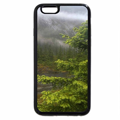 iPhone 6S / iPhone 6 Case (Black) mist covered mountain
