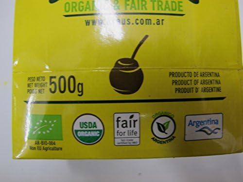 Té de yerba mate Kraus Orgánica Bio: Amazon.es: Alimentación y bebidas