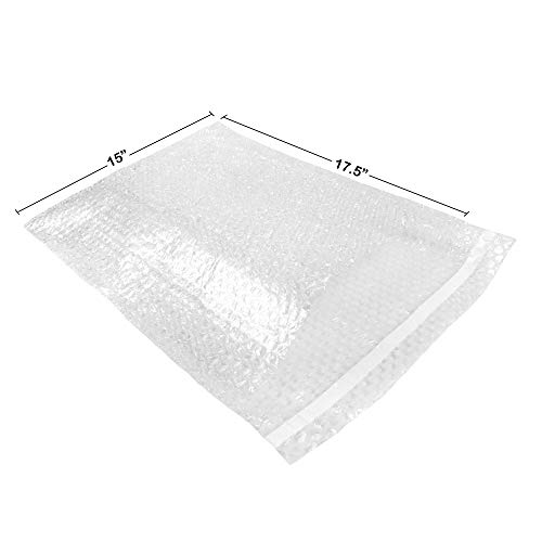 Bubble Pouches 15x17.5 Pack of 50 Self-Sealing Packing Moving Bags