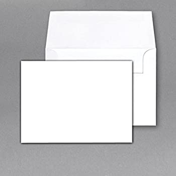 Good Heavy Blank Note Cards And Envelopes Size 5 X 7   White   50 Per Pack.    This Is Not A Fold Over Card. Pertaining To Blank Xmas Cards
