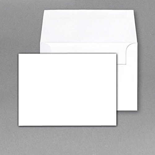 - Heavy Blank Note Cards and Envelopes Size 5 X 7 - White - 50 Per Pack. - This Is Not a Fold Over Card.