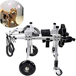 Dog Pet Wheelchair Best Friend—Dog Wheelchair Dog Mobility Harness,Rear Support Wheelchair, Adjustable Stainless Steel Cart Pet/Cat Dog Wheelchair Hind Leg Rehabilitation for Handicapped Dog, 4-Wheel