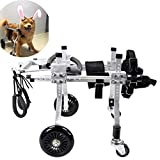 LY-Dog Treadmills Best Friend—Dog Wheelchair Dog Mobility Harness,Rear Support Wheelchair, Adjustable Stainless Steel Cart Pet/Cat Dog Wheelchair Hind Leg Rehabilitation for Handicapped Dog, 4-wheel P
