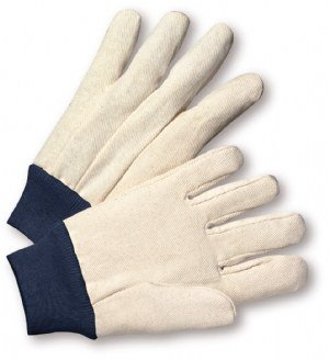 West Chester 710BKWK White Large Cotton/Polyester Work Gloves - Wing Thumb - 10.5 in Length [PRICE is per DOZEN]