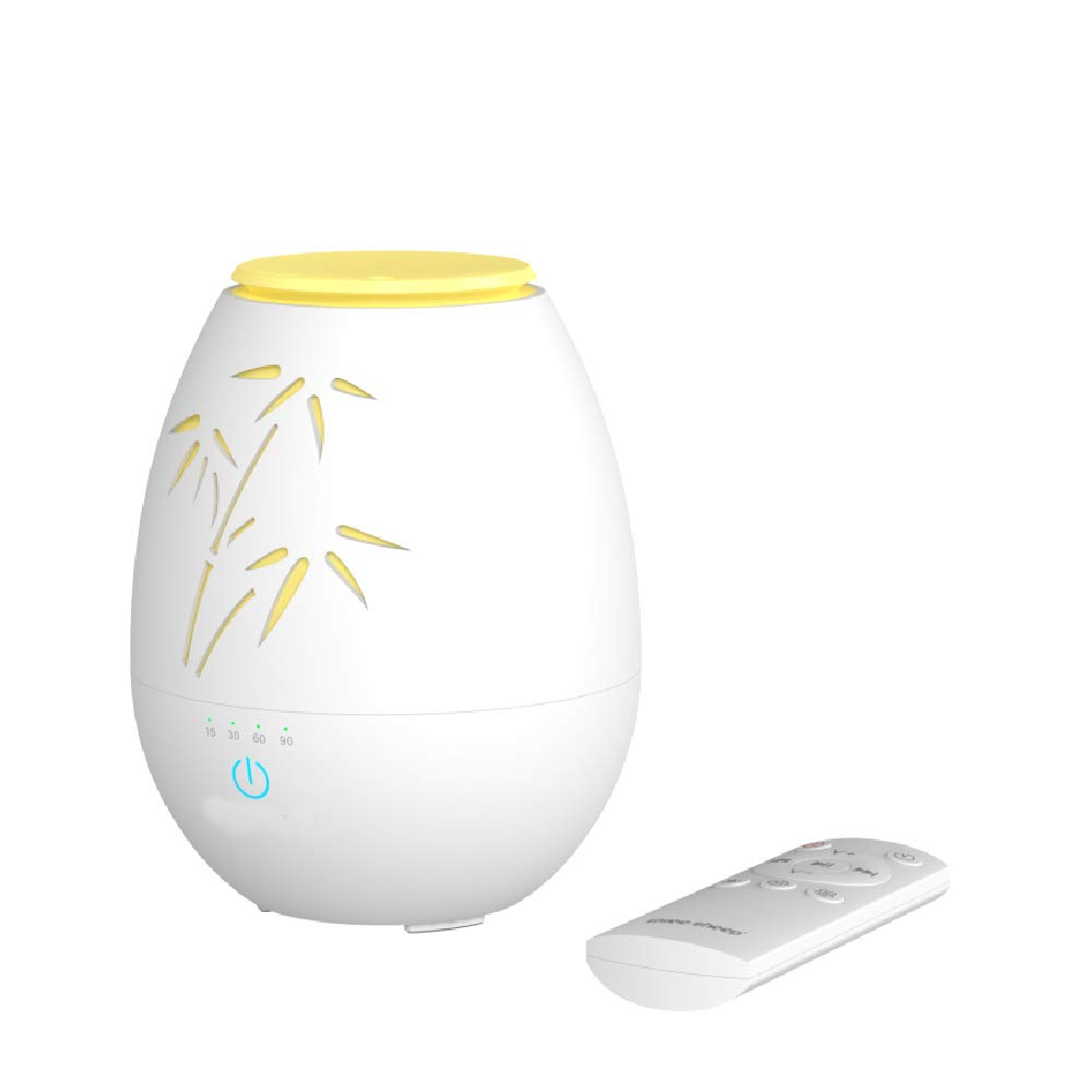 CCDZ Essential Oil Diffuser & White Noise Machine Humidifier Room Decor Lighting,with 10 High Fidelity Unique White Noise Sounds and Sleep Timer,with Remote Control-White by CCDZ