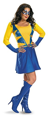 Disguise Womens Classic Fancy Halloween Sexy Costume From X-Men Wolverine, L (12-14) ()