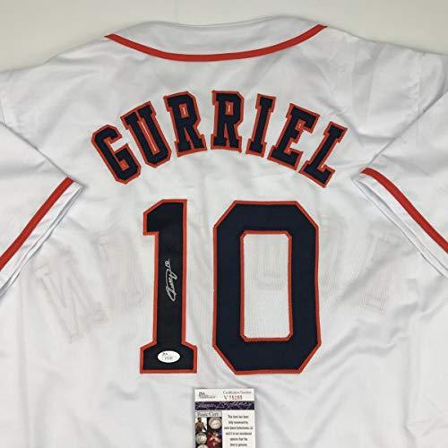 Autographed/Signed Yulieski Yuli Gurriel Houston Orange Baseball Jersey JSA COA