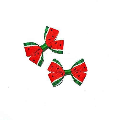 Watermelon Hair Bows set of 2 ()