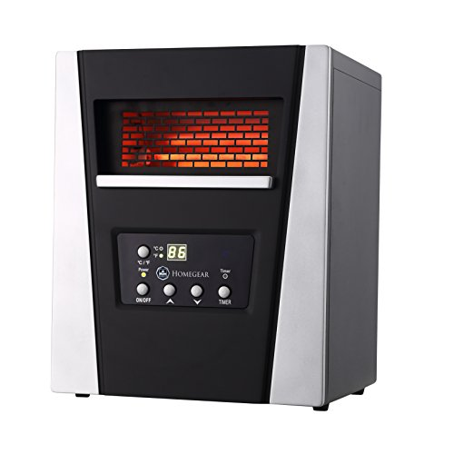 Homegear 1500W Infrared Electric Portable Space Heater Black