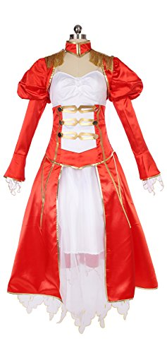 Mtxc Women's Fate/Extra Red Saber Cosplay Nero Claudius Formal Dress Size XX-Large (Nero Cosplay Costume)