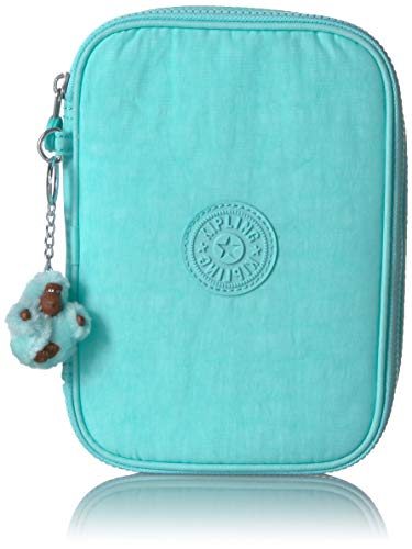 Kipling 100 Pens Pencil, Essential Everyday Case, Zip Closure, Fresh Teal Tonal