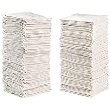 """Cleaning Solutions 79142 14"""" x 12"""" Shop (Pack of 150), Size 14"""" x 12"""" Cotton Towels/Rags, Reusable, Ideal for Cleaning, Auto and Home (Natural White), 150 Pack"""