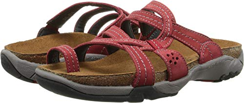 (Naot Footwear Women's Drift Grenadine Leather Sandal 39 (US Women's 8))