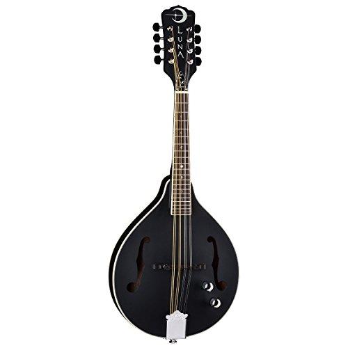 Luna BGM MOON A Mandolin, Black by Luna Guitars