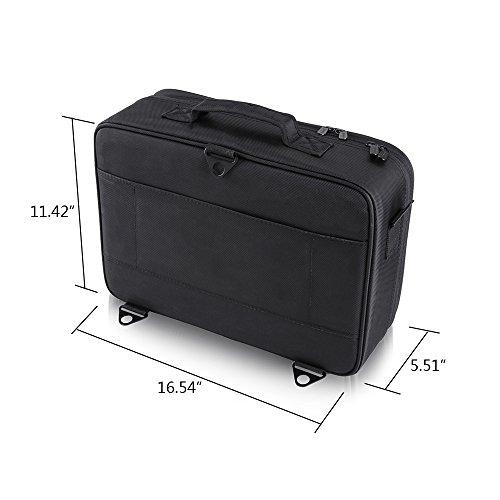 Hotrose Professhional Large Space Makeup Brush Bag - Cosmetic Artist Organizer Kit - Handle Shoulder Bag - Travel Box (Large) by Hotrose® (Image #3)