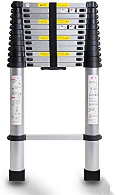 LY-Escalera Escalera telescópica - Escalera plegable multifuncional de aleación de aluminio gruesa Escalera de uso doméstico Escalera plegable - 150 kg (Talla : Enhanced Edition 2.6m): Amazon.es: Bricolaje y herramientas