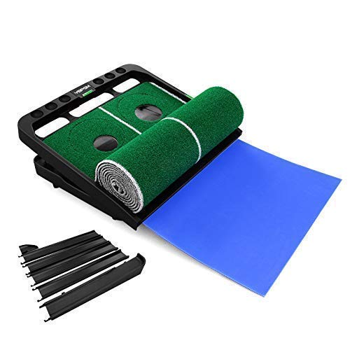 YBPGM 360° Rotory Golf Putting Auto Return System Professional Practice Green Long Challenging Putter Indoor/Outdoor Golf Training Mat Aid Equipment by YBPGM (Image #5)