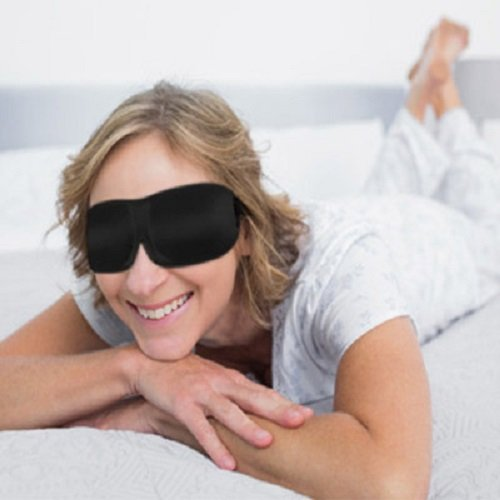 Bucky 40 Blinks Ultralight & Comfortable Contoured, No Pressure Eye Mask for Travel & Sleep, Perfect With Eyelash Extensions - Black Dots by Bucky (Image #7)