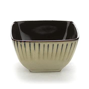 Amazon.com | Square Bamboo by Threshold, Stoneware Soup/Cereal Bowl ...