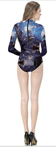 da Interstellar manica THENICE Costume intero da lunga donna bagno con qvUwg6vt