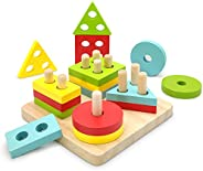 TOLOLO Montessori Toys for 1 2 3 Year Old Boys Girls, Educational Learning Toys for 2 Year Old Girls Boys Birt