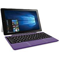 Latest Model Premium High Performance RCA Cambio 10.1 2-in-1 Touchscreen Tablet PC Intel Quad-Core Processor 2GB RAM 32GB Hard Drive Webcam Wifi Microsoft Office Mobile Bluetooth Windows 10 Purple
