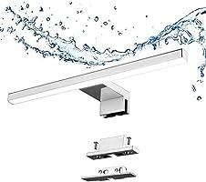 Aogled LED Spegellampa för Badrum Vattentät 5 W 4000 K Neutral Vit, 30 cm, Rostfritt Stål, Silver