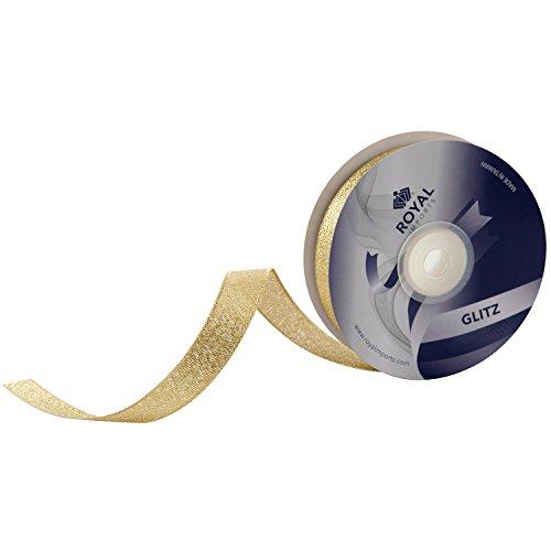 Metallic (Glitz) Gold Fabric Ribbon 5/8