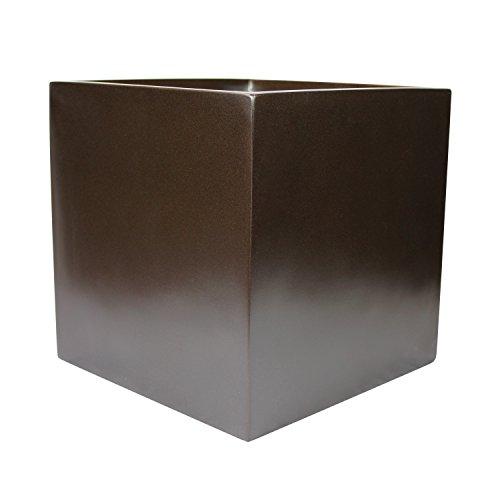 "Basel Square Cube Fiberglass Planter Box (L:12"" x W:12"" x..."